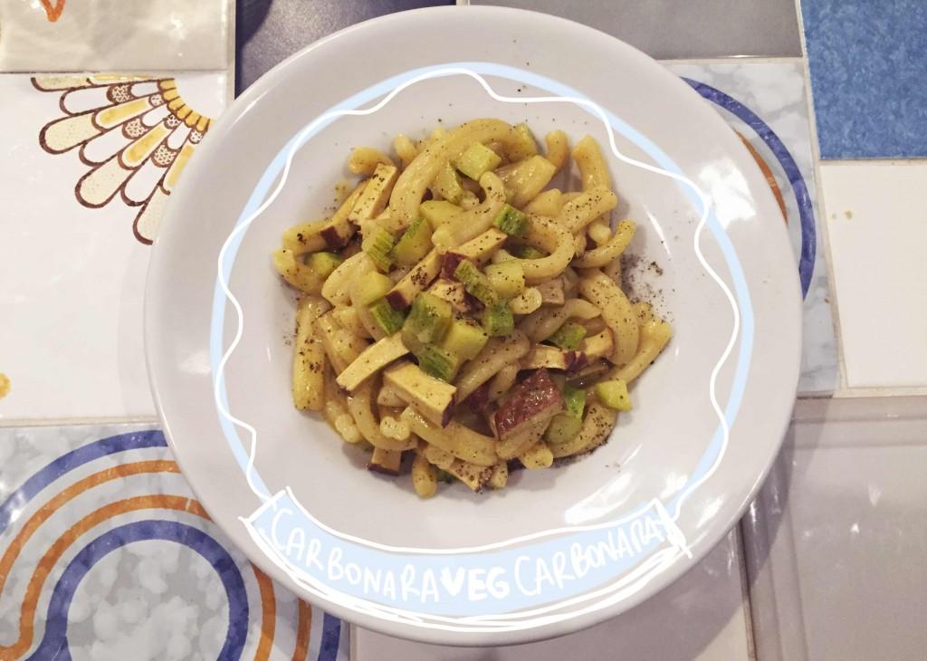 carbonara vegana - ristorante vegano Ma va'? di Roma
