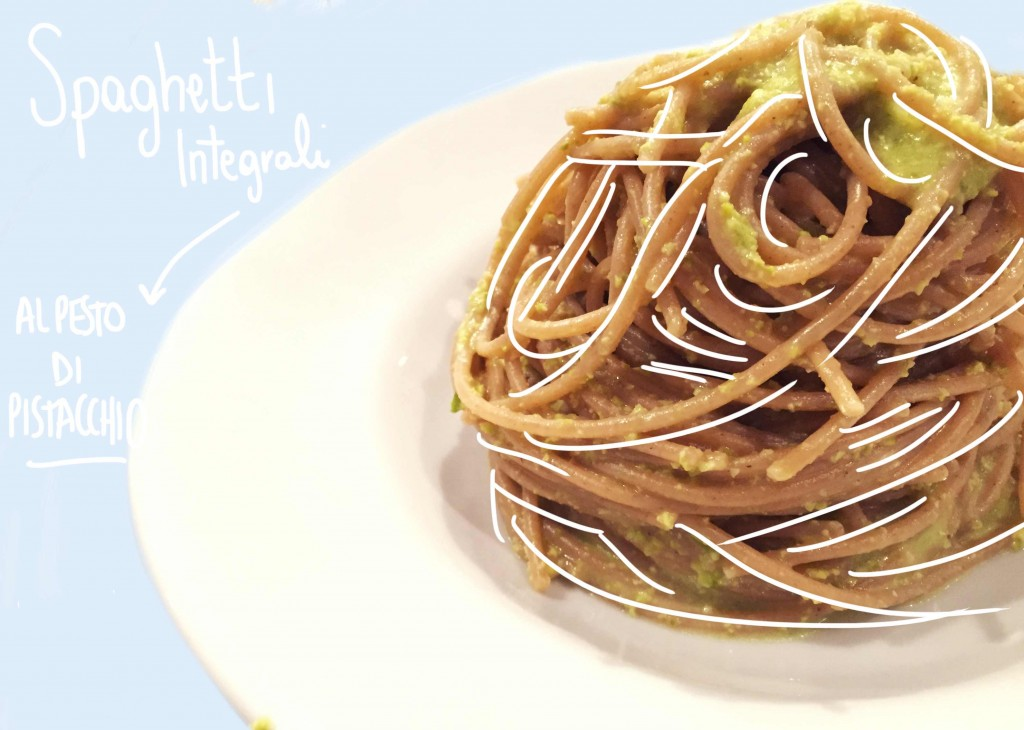 Spaghetti INTEGRALI AL PESTO DI PISTACCHIO