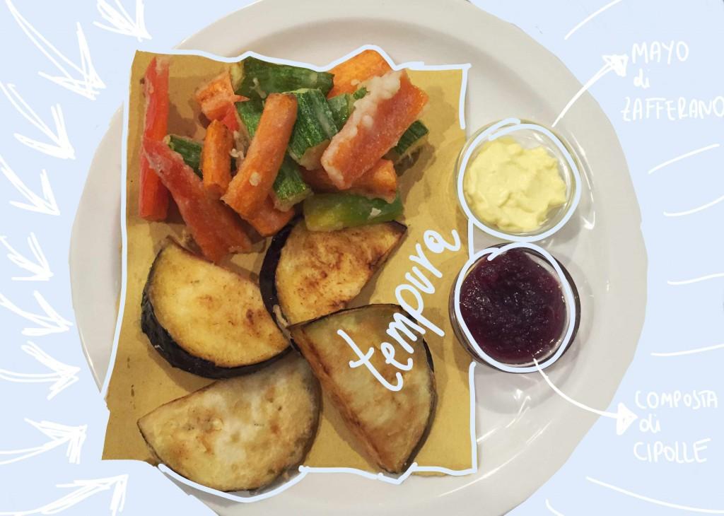 tempura di verdure - Ma va'? ristorante vegano Roma