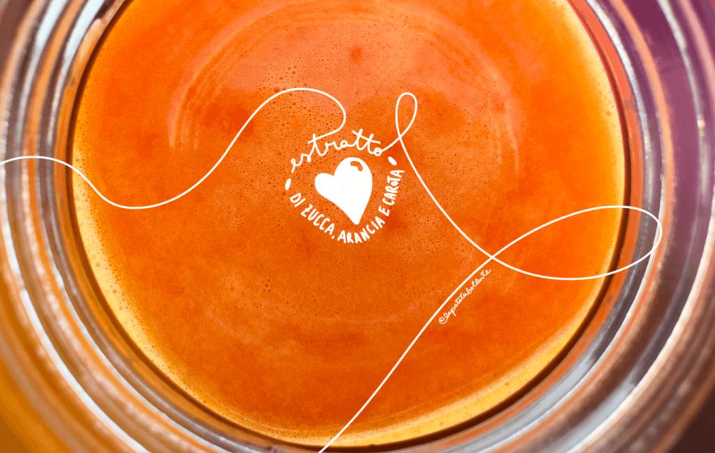 Estratto di zucca, arance e carote
