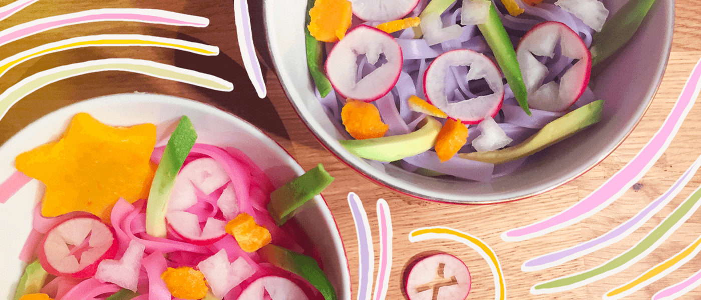 la ricetta facile e veloce per cucinare gli unicorn noodles