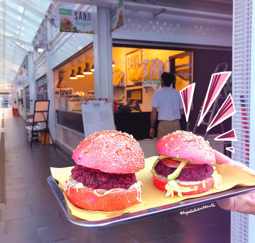 Sano burger, lo street food vegano del mercato Testaccio
