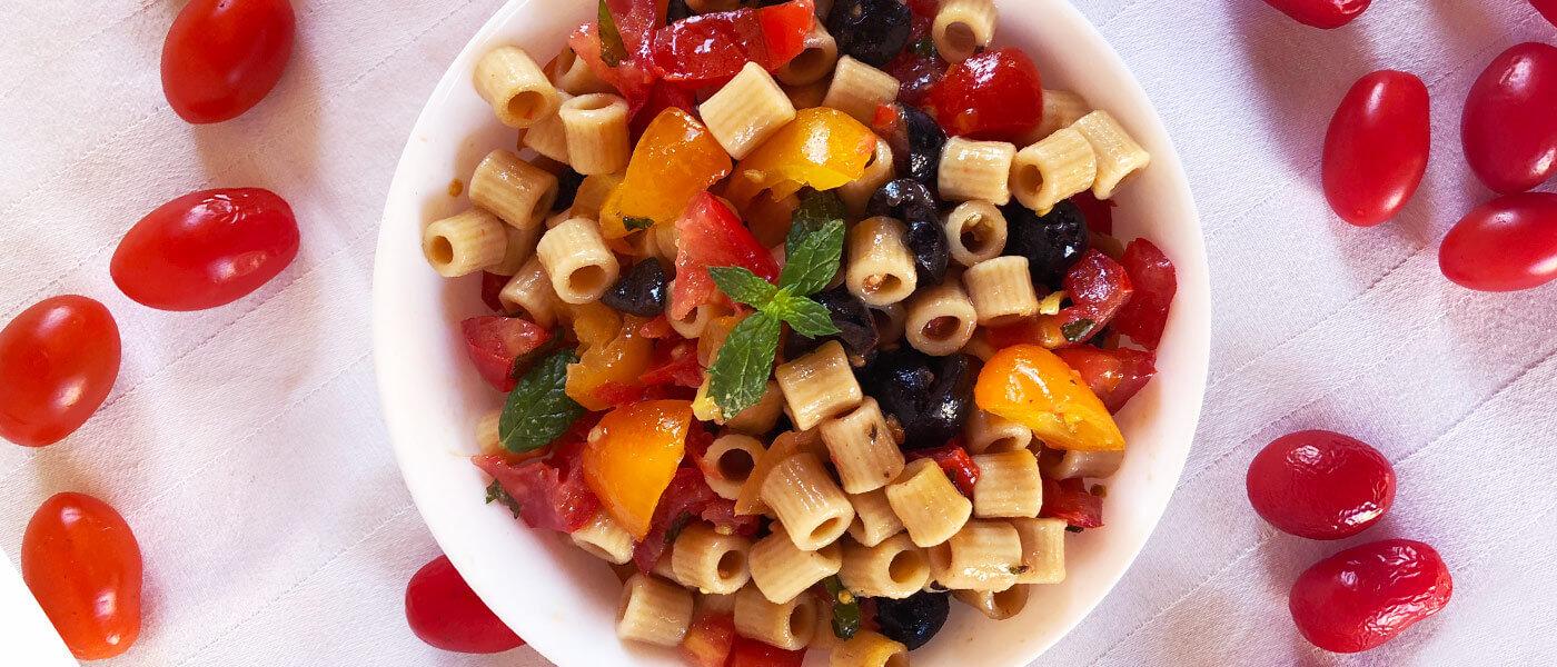 Insalata di pasta fredda integrale: un piatto facile e veloce
